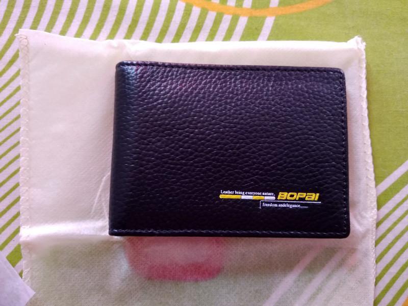 Кожаный кошелек BOPAI для карточек и документов