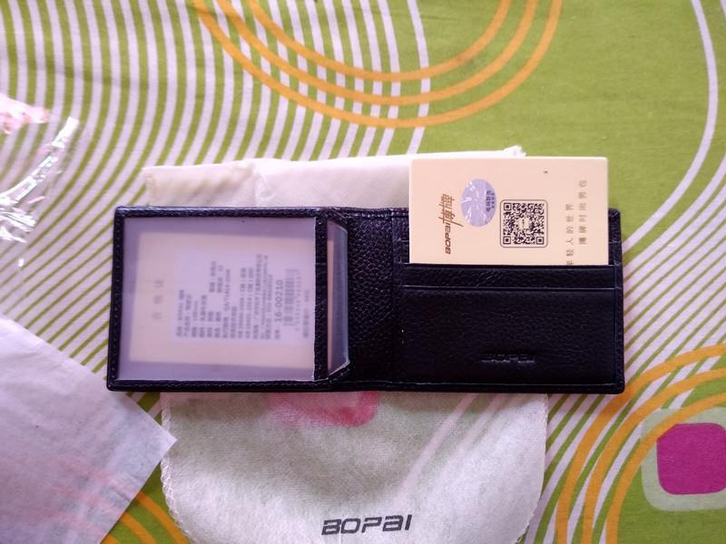Кожаный кошелек BOPAI для карточек и документов - Фото 2