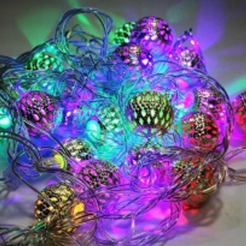 Новогодние гирлянды золото - Фото 3