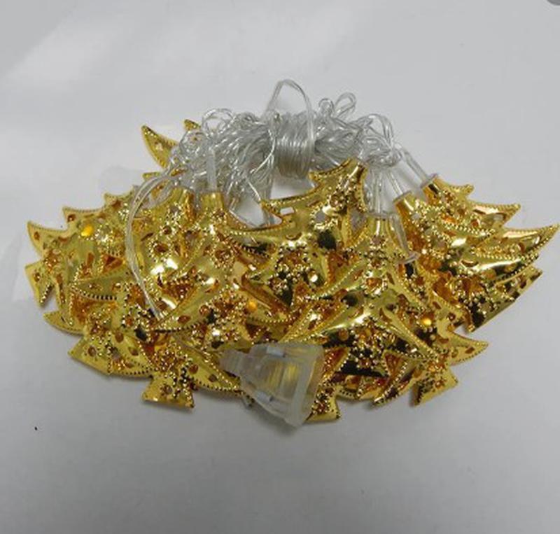 Новогодние гирлянды золото - Фото 4
