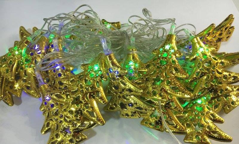 Новогодние гирлянды золото - Фото 5