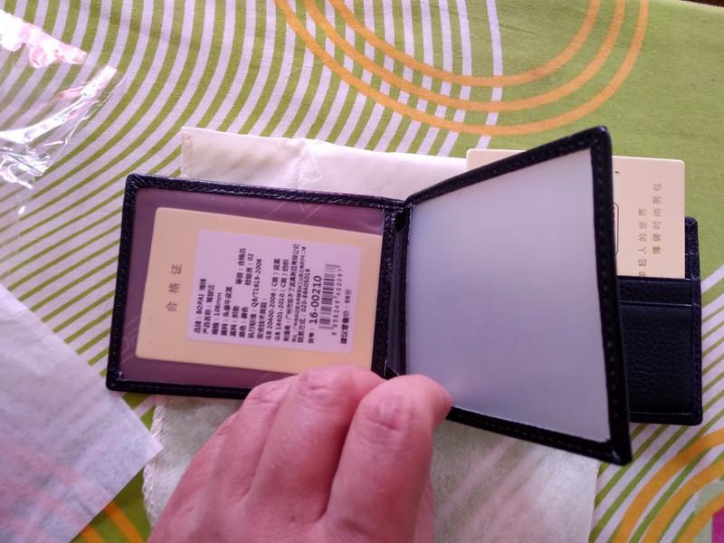 Кожаный кошелек BOPAI для карточек и документов - Фото 4
