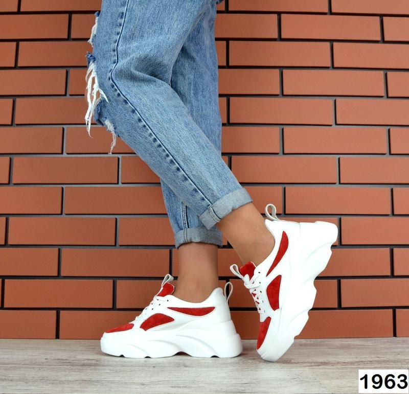 Натуральная кожа кожаные замшевые кроссовки на массивной подошве