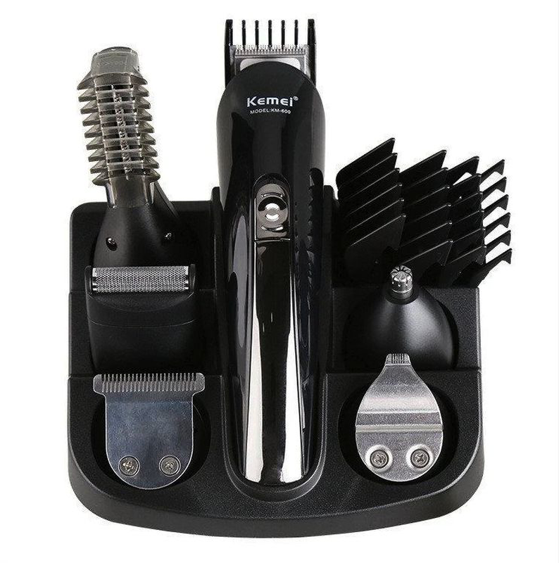 Машинка триммер для стрижки волос KEMEI KM-600 11 В 1 + Подставка - Фото 5