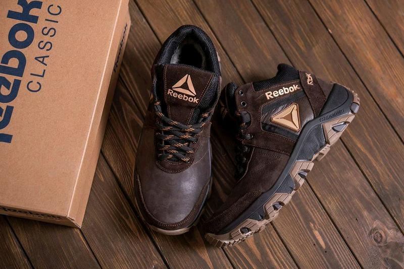 Мужские зимние кожаные ботинки Reebok - Фото 3