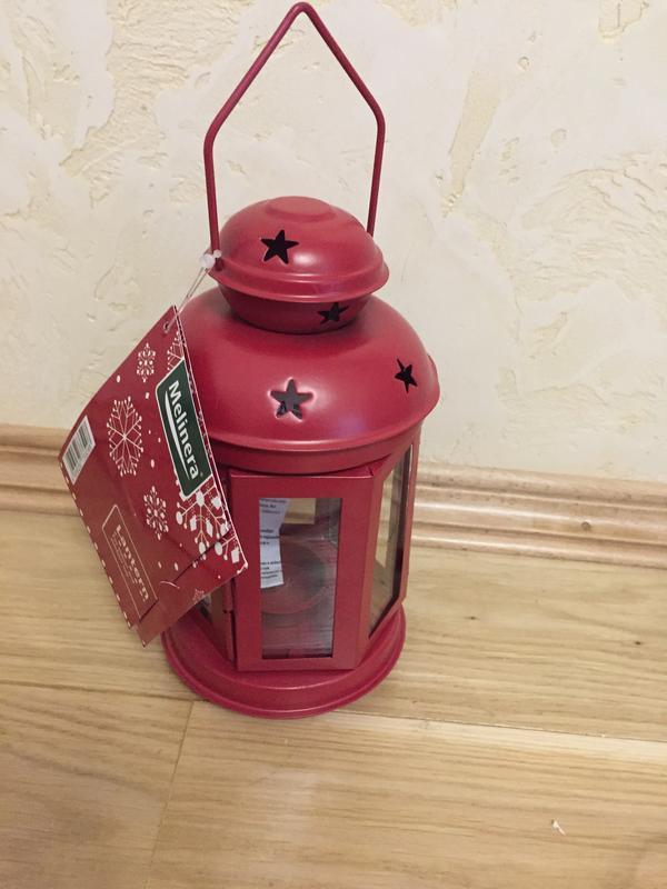 Подсвечник новогодний светильник фонарик фонарь melinera