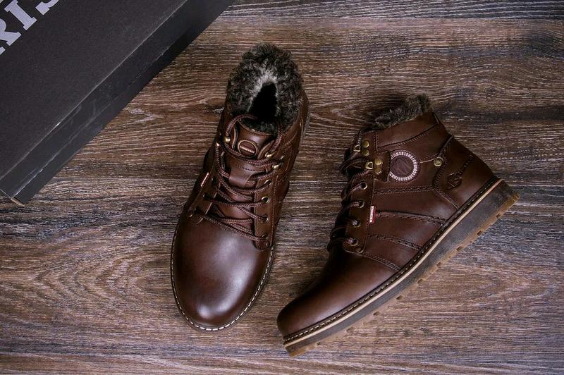Мужские зимние кожаные ботинки Reebok - Фото 2