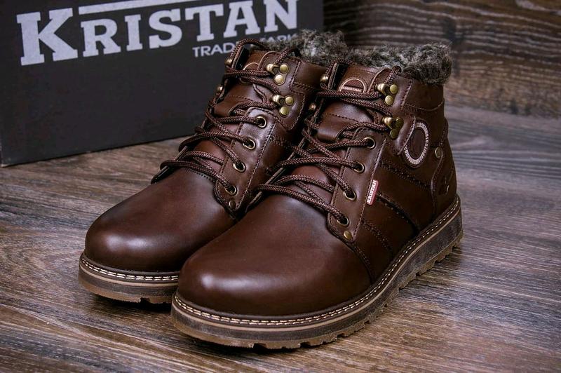 Мужские зимние кожаные ботинки Reebok - Фото 4