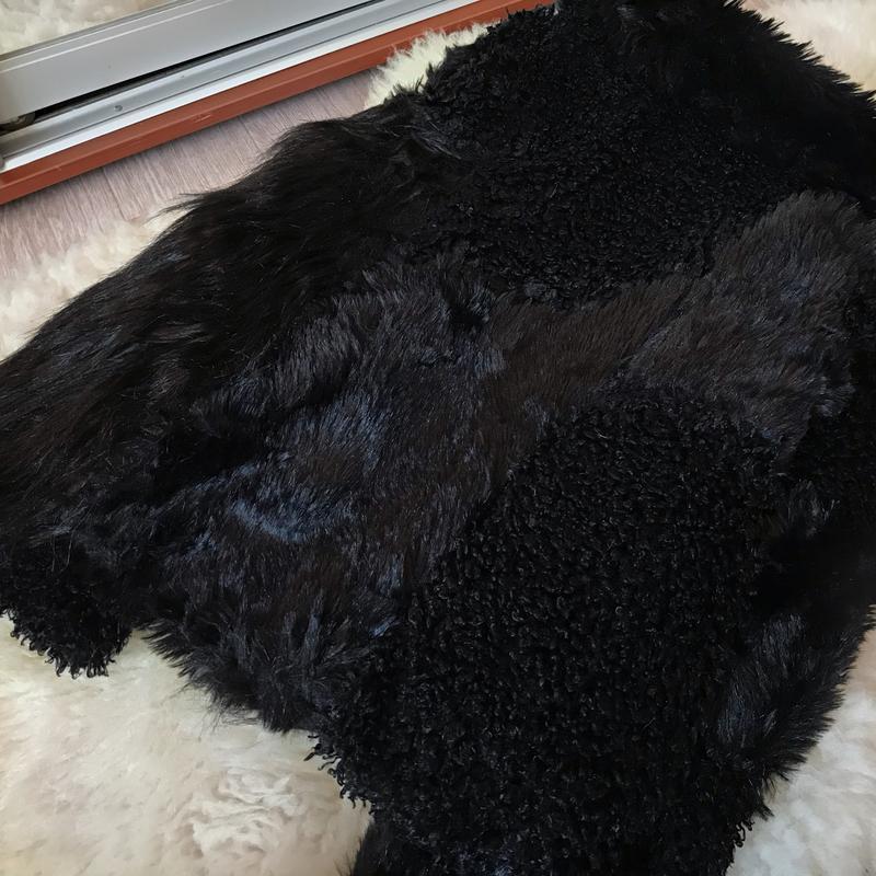 250 нереально стильная шубка из комбинированного эко меха topshop - Фото 7