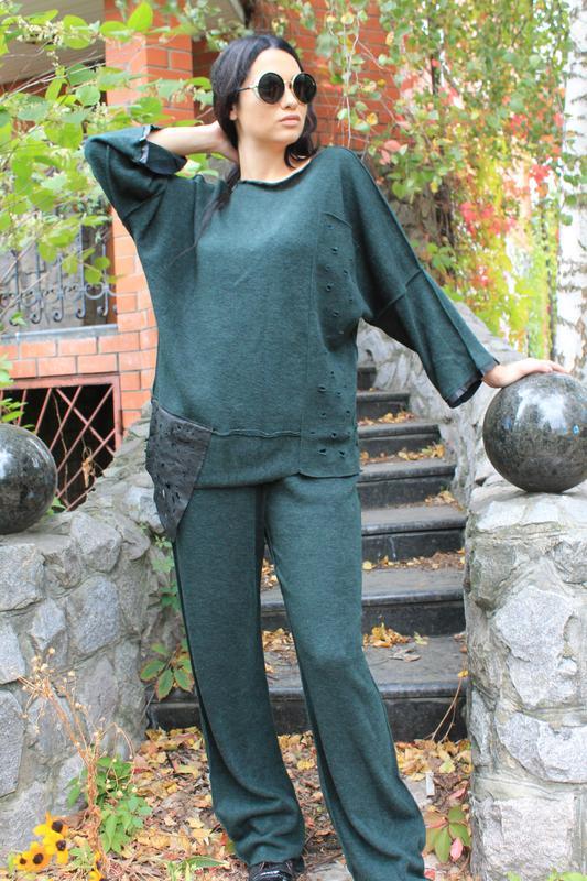 Костюм брюки, кофта! Свободный размер! Ангора! Осень! - Фото 10
