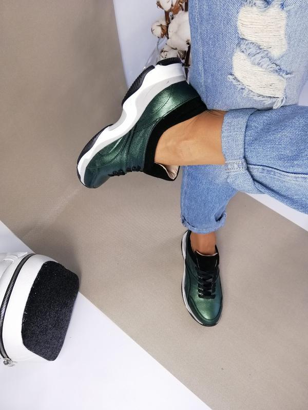 Женские кроссовки, натур. кожа