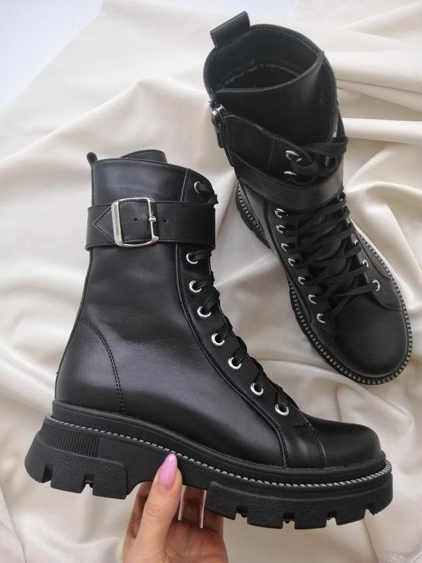 Кожаные женские ботинки, деми
