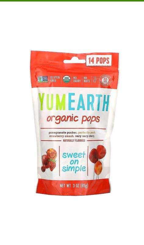 Леденцы органические, натуральные, различные вкусы, 14 штук