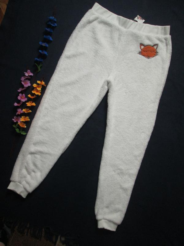 Невероятно теплые мягкие уютные плюшевые пижамные брюки высока...