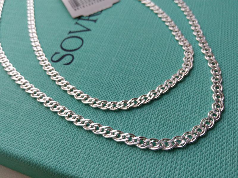 Серебряная цепочка цепь плетение нонна мона лиза 60 см серебро...
