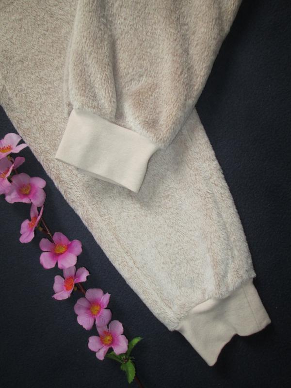 Плюшевые теплющие пижамные домашние брюки цвета капучино высок... - Фото 8