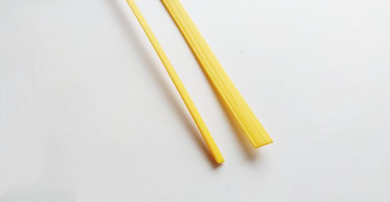 ABS Полоса Стержни Желтый Стержні Прутки Палочки Пайки жовтий