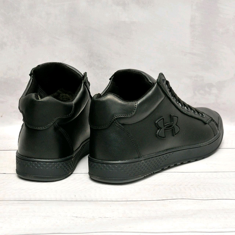Кожанные мужские зимние ботинки - Фото 3