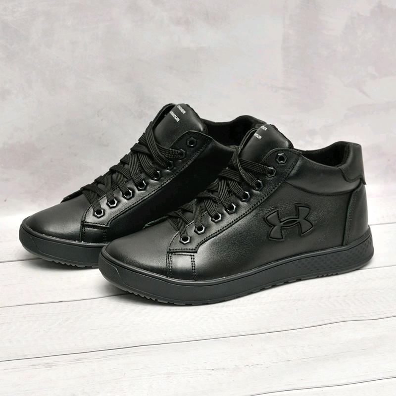 Кожанные мужские зимние ботинки