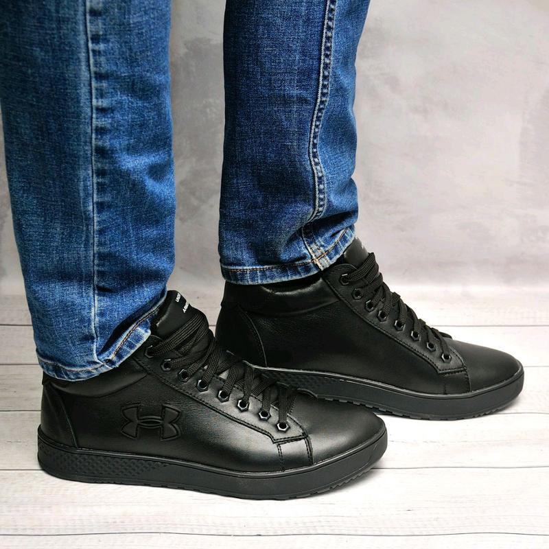 Кожанные мужские зимние ботинки - Фото 5