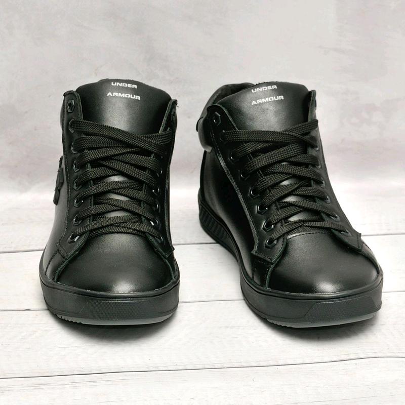 Кожанные мужские зимние ботинки - Фото 2