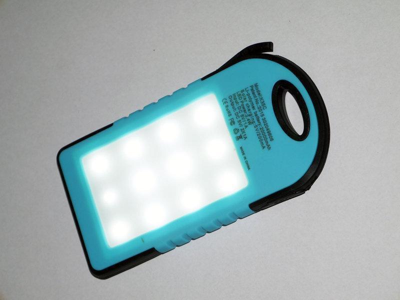 Портативное зарядное Power Bank Solar 50000 mAh на солнечной бата - Фото 3