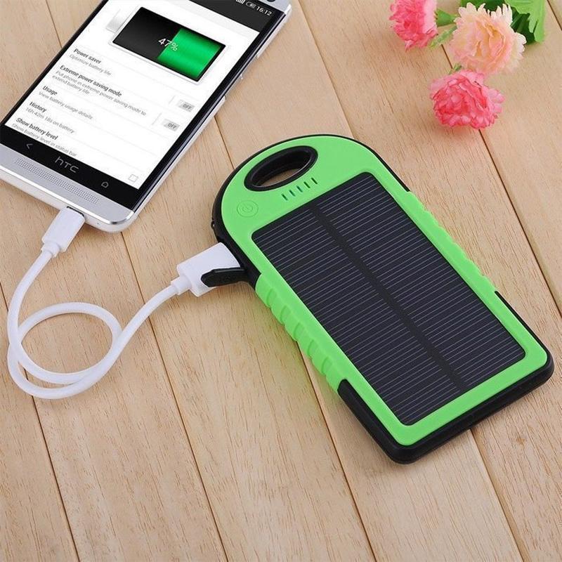 Портативное зарядное Power Bank Solar 50000 mAh на солнечной бата - Фото 6