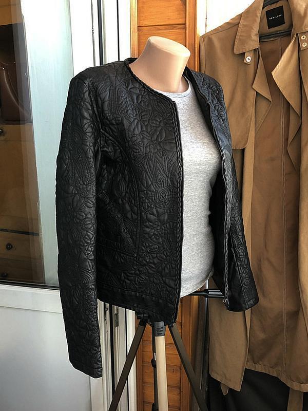 Обалденная фактурная куртка klass collection (кожанка) - Фото 2