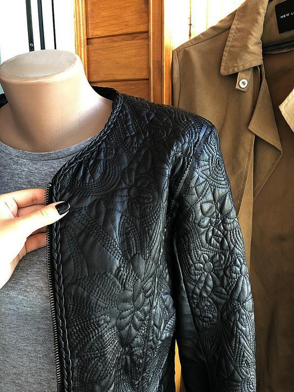 Обалденная фактурная куртка klass collection (кожанка) - Фото 3