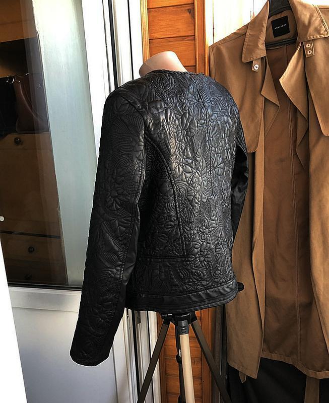 Обалденная фактурная куртка klass collection (кожанка) - Фото 5