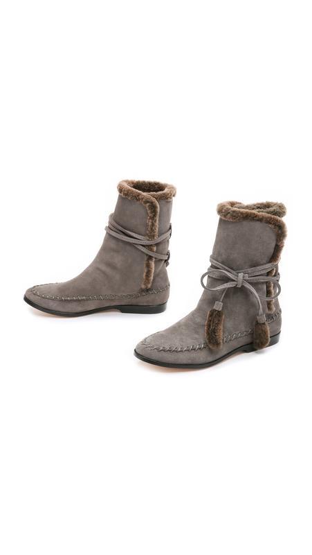 Дизайнерские сапожки cynthia vincent hustle shearling boots ра...