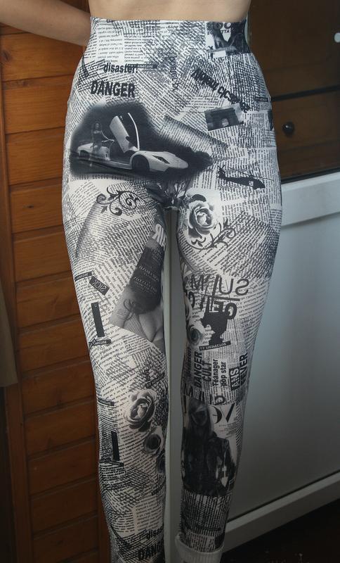 Обалденные бесшовные лосины с высокой посадкой classic fashion - Фото 2