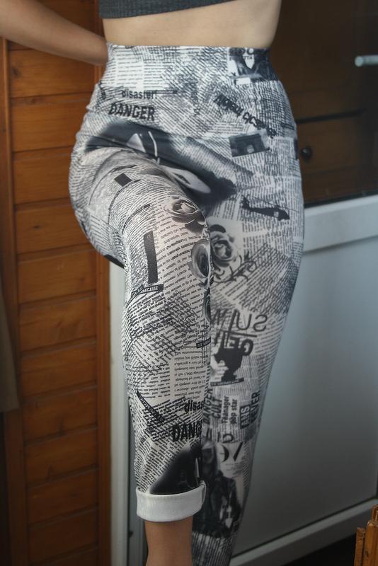 Обалденные бесшовные лосины с высокой посадкой classic fashion - Фото 4