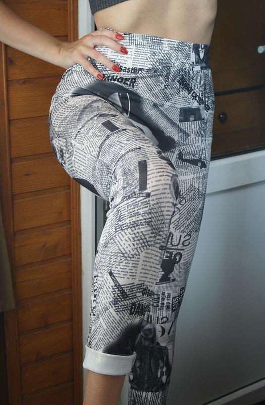 Обалденные бесшовные лосины с высокой посадкой classic fashion - Фото 5