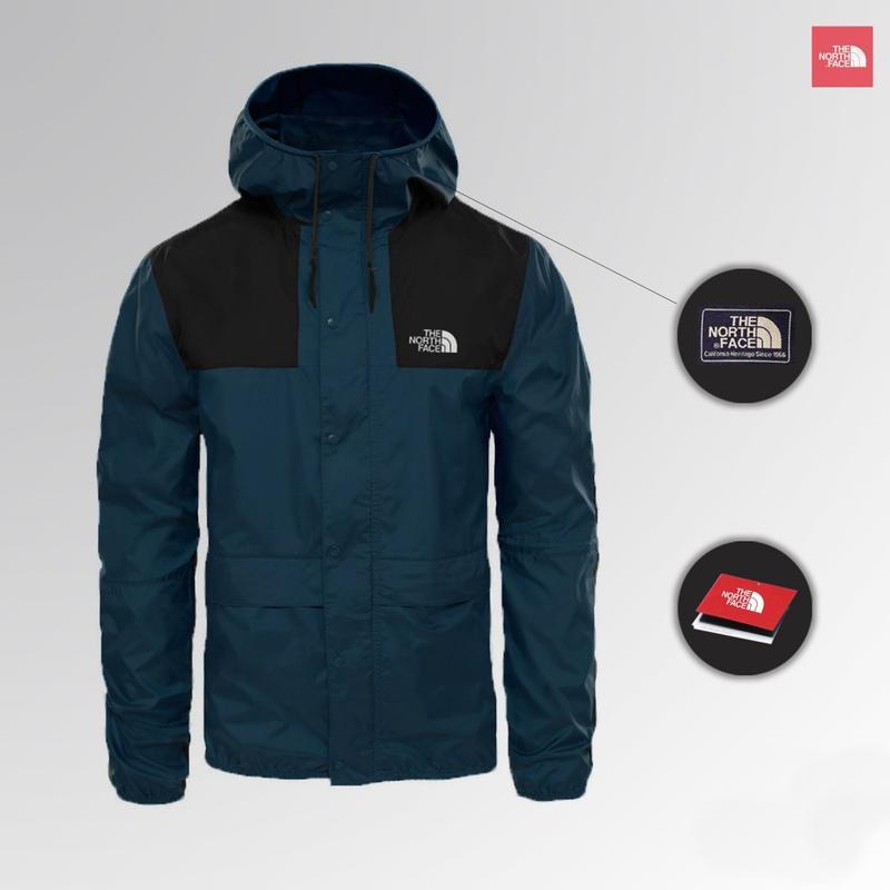 Куртка The North Face 1985 Seasonal Mountain Jacket - BLACK/BLUE