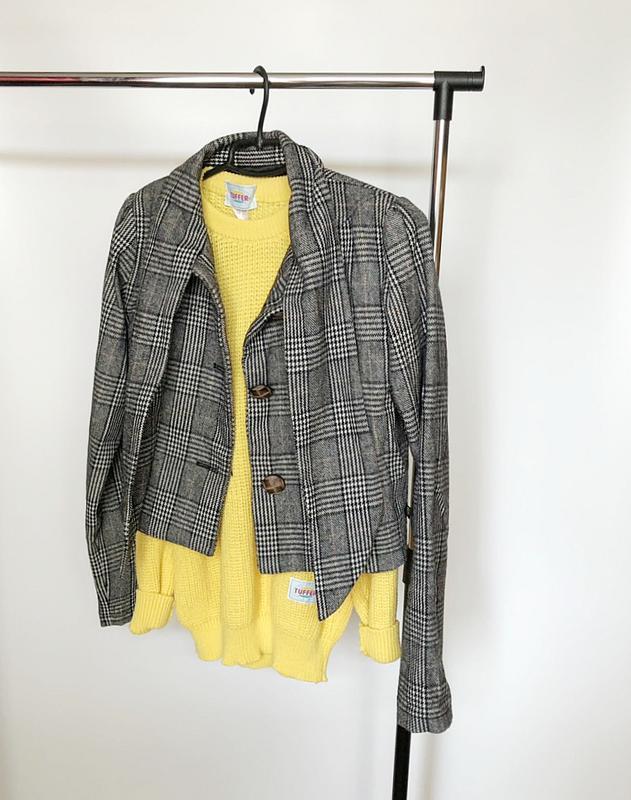 Обалденное короткое шерстяное пальто в клетку supremebeng (жакет) - Фото 7