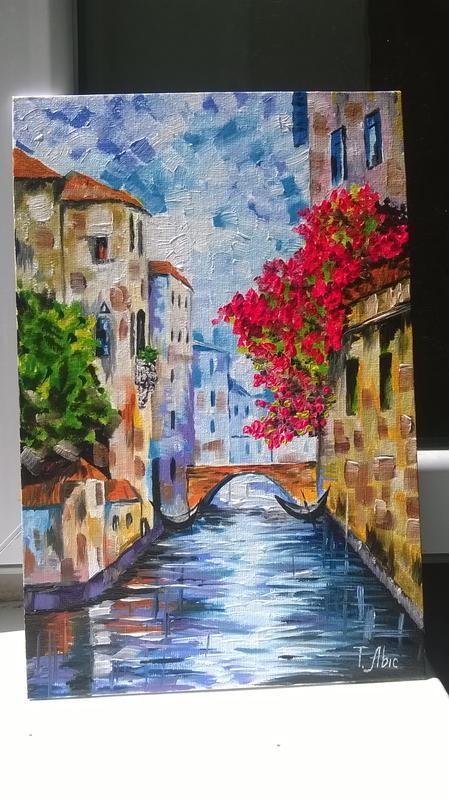 Картина маслом 20х30 Венеция - Фото 6