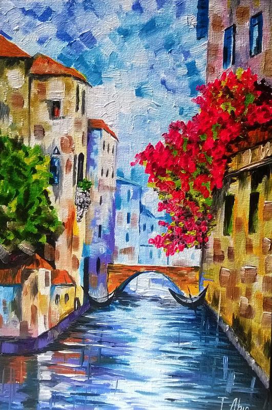 Картина маслом 20х30 Венеция