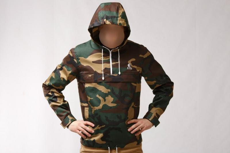 Куртка ветровка анорак камуфляжный вудленд
