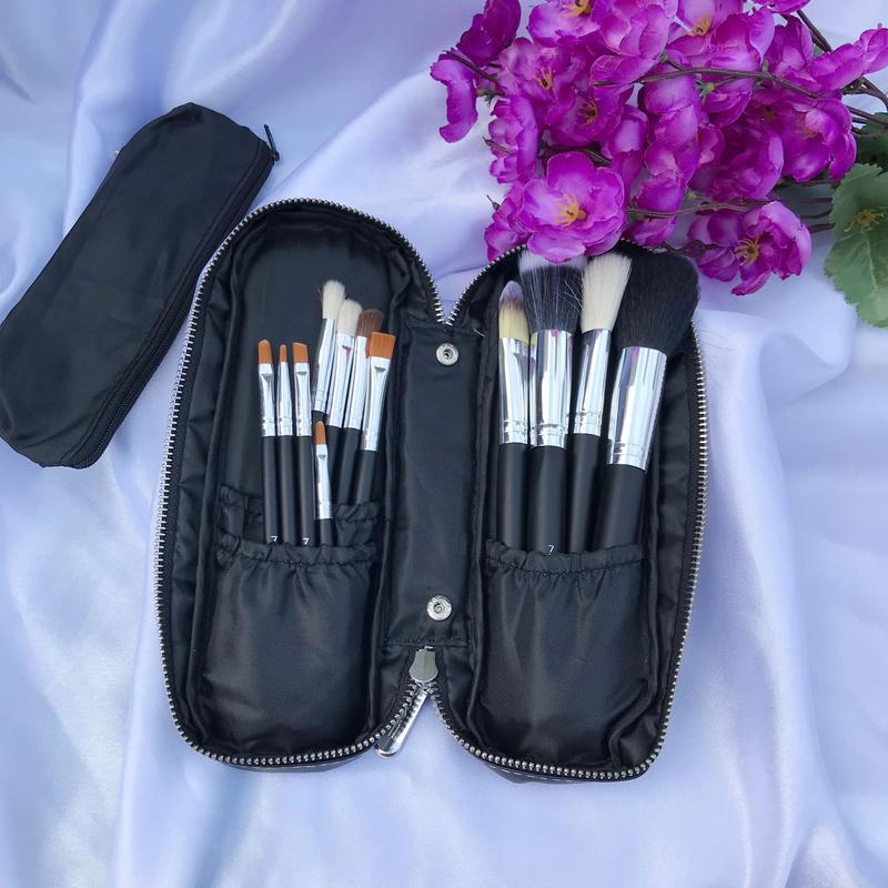 Набор из 12 кистей для макияжа  в косметичке - Фото 6
