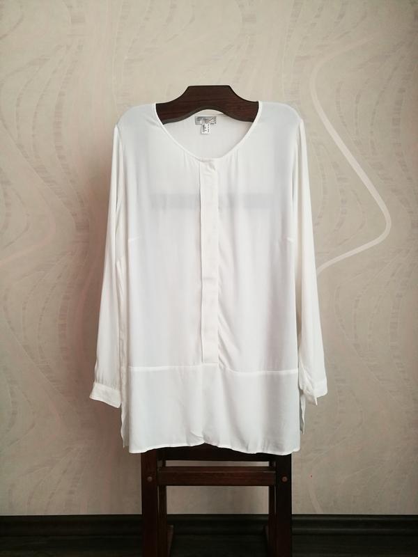Белоснежная вискозная блуза,туника