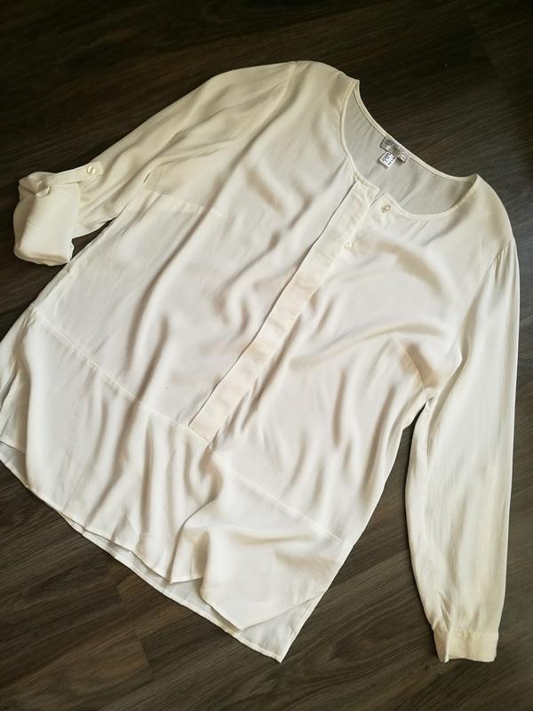Белоснежная вискозная блуза,туника - Фото 4