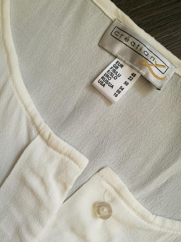 Белоснежная вискозная блуза,туника - Фото 5