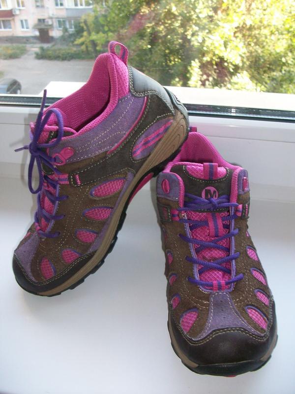 Ботинки(кроссовки) детские натуральная замша merrell р. 35