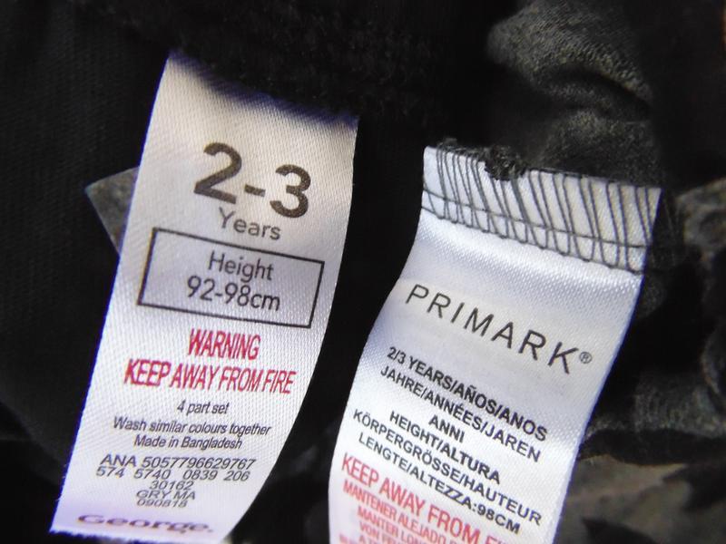Пижама 2 шт низ штаны 2-3 года 98 см primark англия - Фото 5