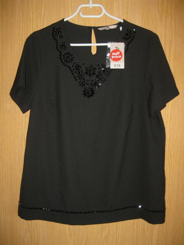 """Новая черная блузка """"tu"""" р.48"""
