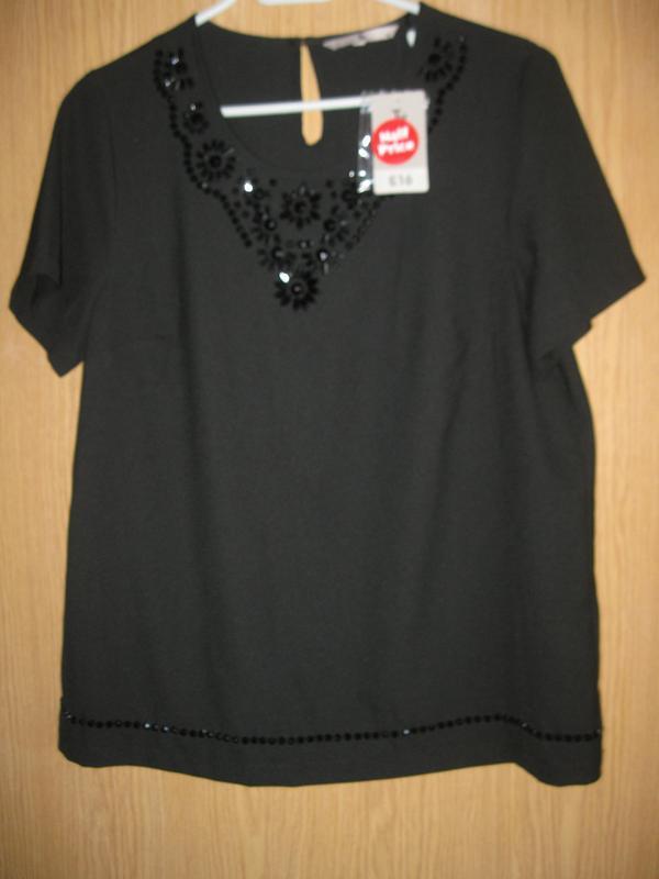 """Новая черная блузка """"tu"""" р.48 - Фото 2"""