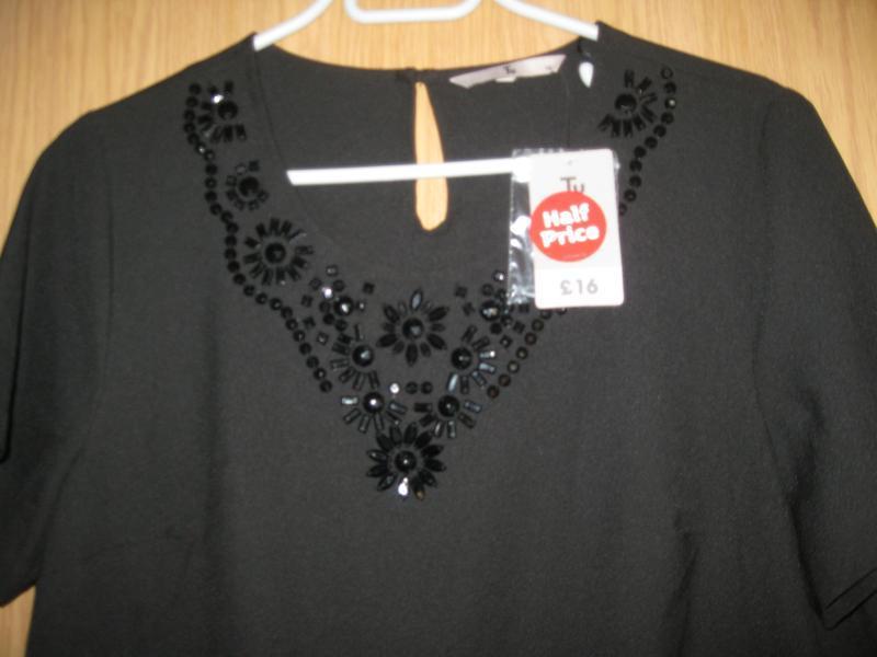 """Новая черная блузка """"tu"""" р.48 - Фото 3"""