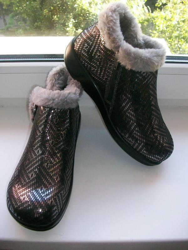 Ботинки (сапожки) женские натуральная кожа alegria р.37