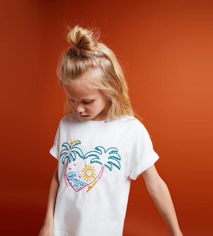 Детская футболка алоха aloha с вышивкой zara kids